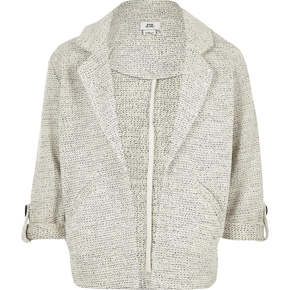 Girls grey jersey jacket