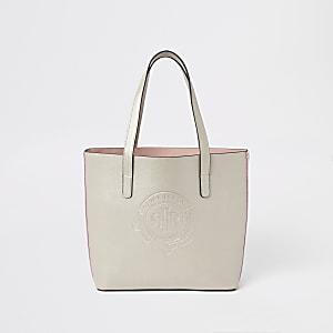 Goudkleurige handtas met RI-logo voor meisjes