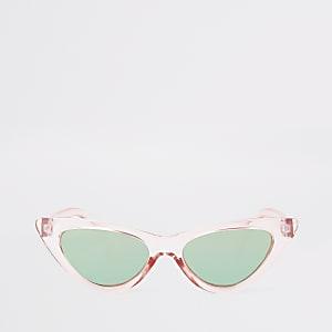 Roze cat-eye-zonnebril voor meisjes