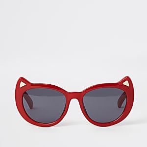 Lunettes de soleil yeux de chat rouges pour mini fille