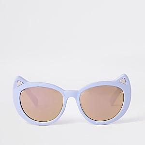 Lunettes de soleil yeux de chat violettes pour mini fille