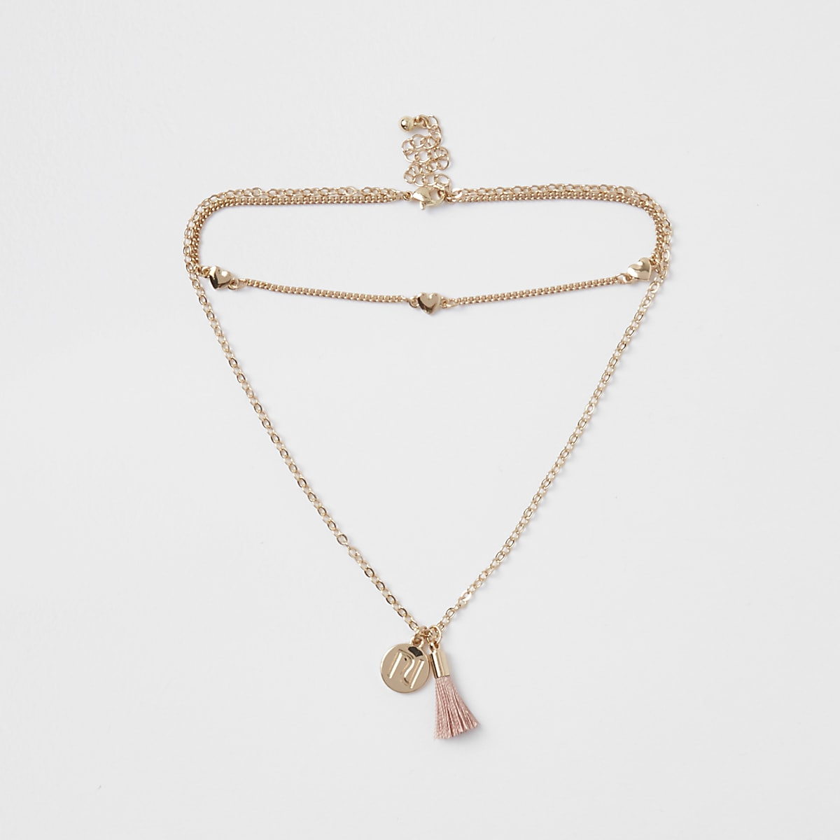 Girls gold RI tassel choker