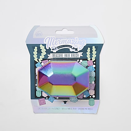 Girls green mermaid hairbrush