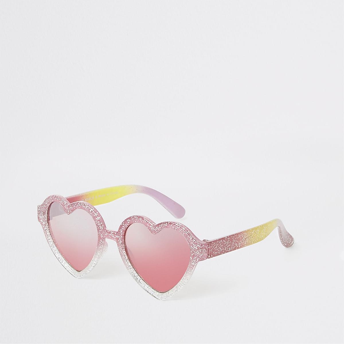 b25b2a58bf39 Mini girls pink glitter heart sunglasses - Baby Girls Accessories ...