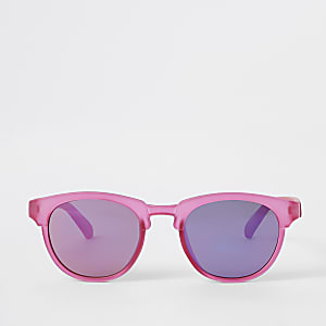 19d6e98ed5cb5 Mini girls bright pink sunglasses