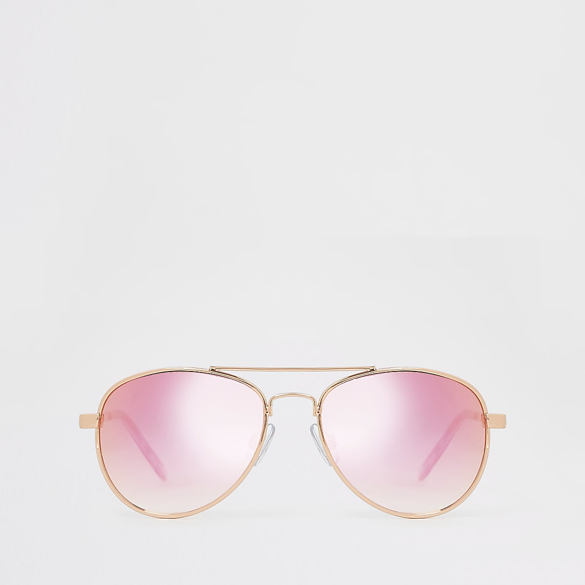 Girls rose gold aviator sunglasses