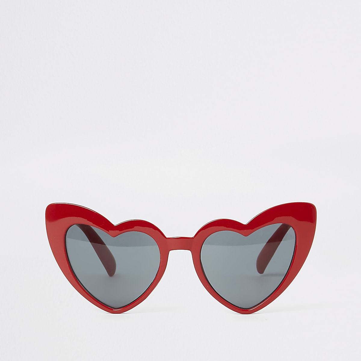 Girls red heart cat eye sunglasses