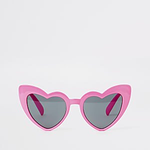 8a4d085d54652 Girls pink heart cat eye sunglasses