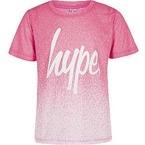 Hype - T-shirt met vervaagde spikkelprint voor meisjes