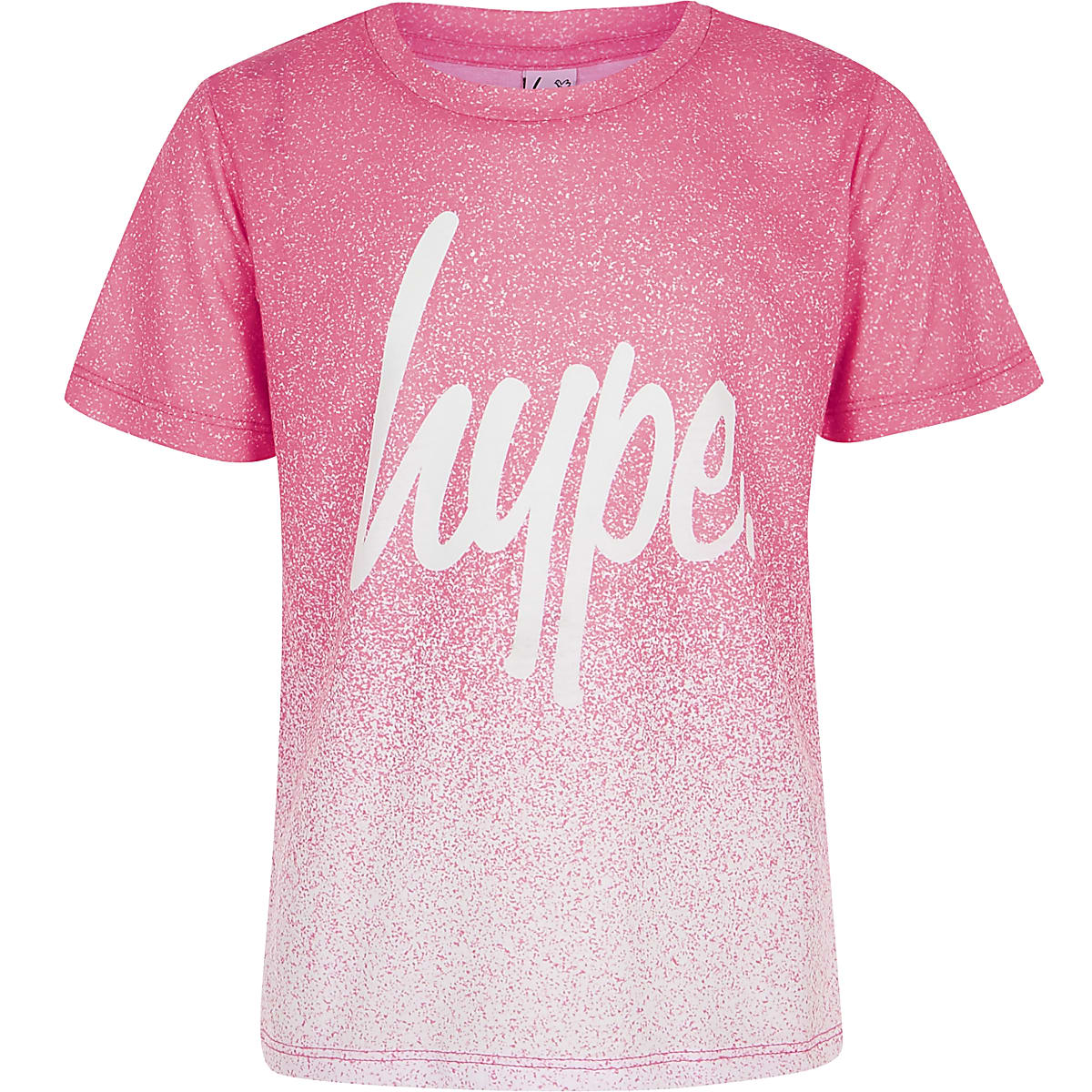 Girls pink Hype speckle fade T-shirt