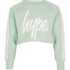 Hype - Groen sweatshirt met logo voor meisjes