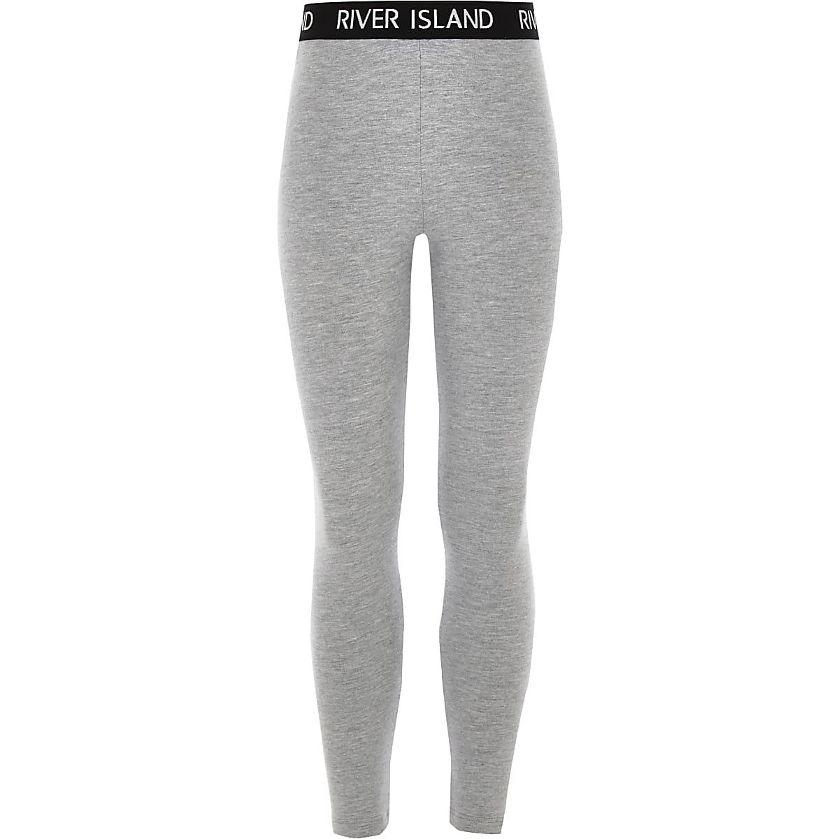 énorme réduction 2a070 46faf Girls grey RI waistband leggings