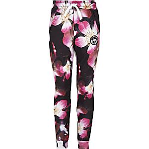 Hype – Pantalon de jogging à fleurs noir