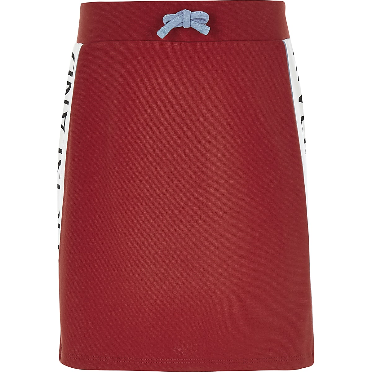 Girls red RI tape skirt