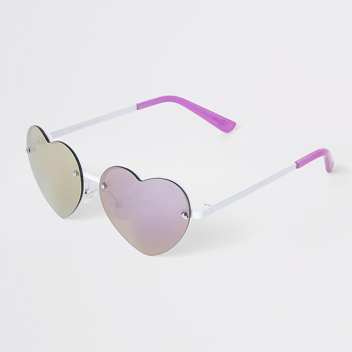 b3bc2b99f339 Girls pink heart sunglasses - Sunglasses - Accessories - girls