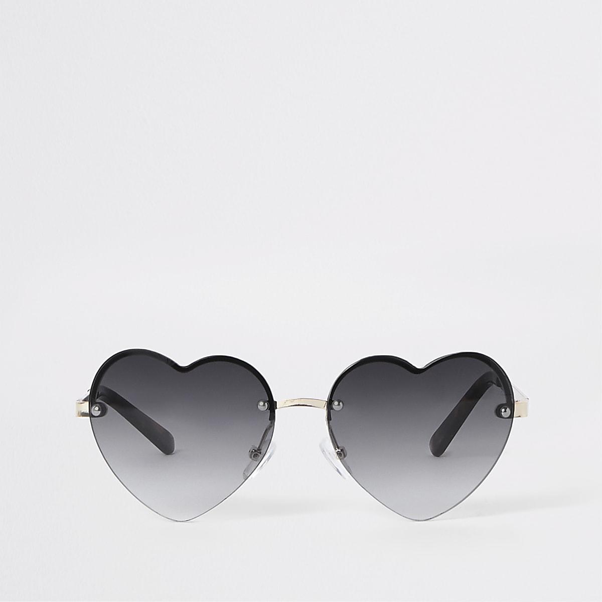 fd945e35374a Girls black heart tinted lens sunglasses - Sunglasses - Accessories - girls