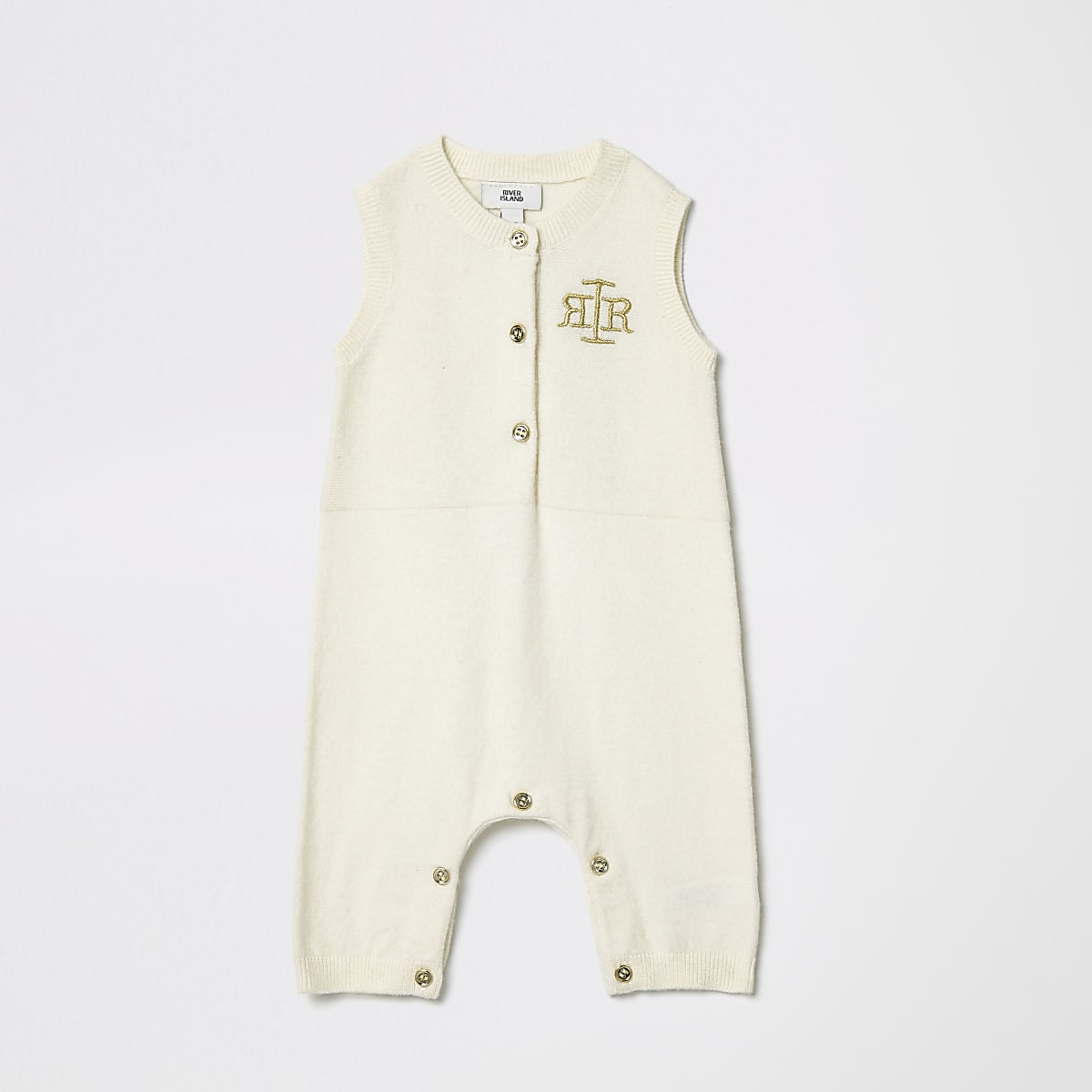d035cc7425cb0 Baby cream knitted RI romper - Baby Girls Babygrows - Mini Girls - girls