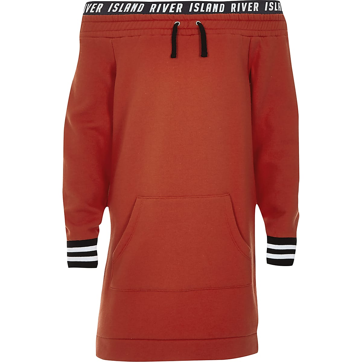Girls red RI bardot sweater dress