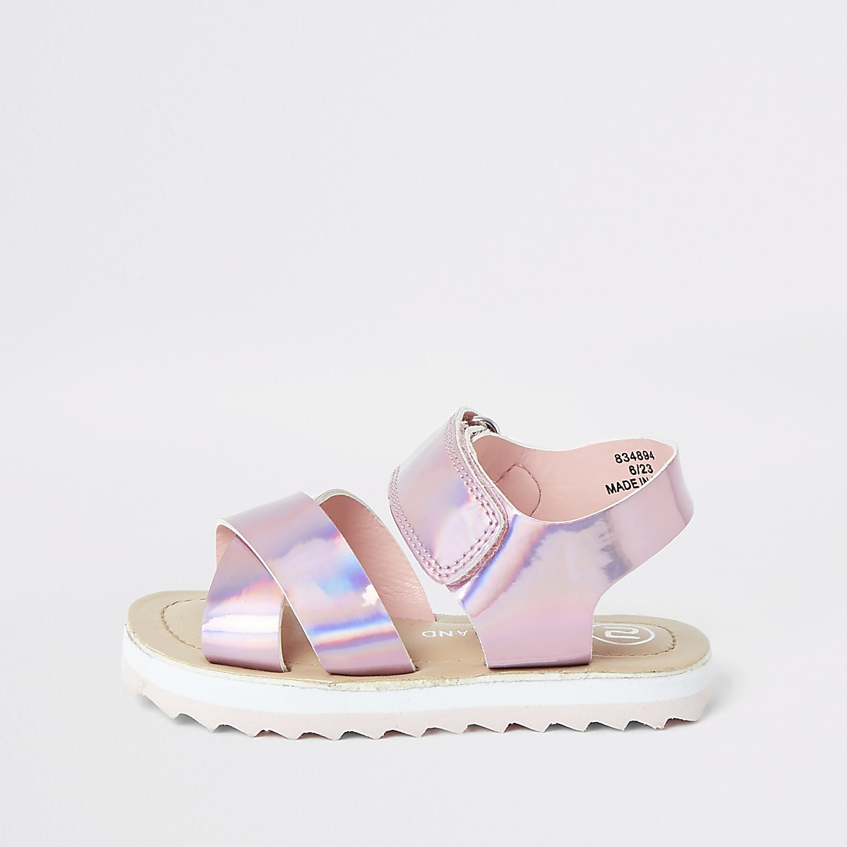 Pink holographic chunky sole sandal