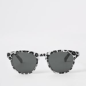Lunettes de soleil léopard argentées pour mini fille