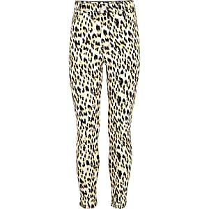 Molly – Jegging imprimé léopard marron pour fille