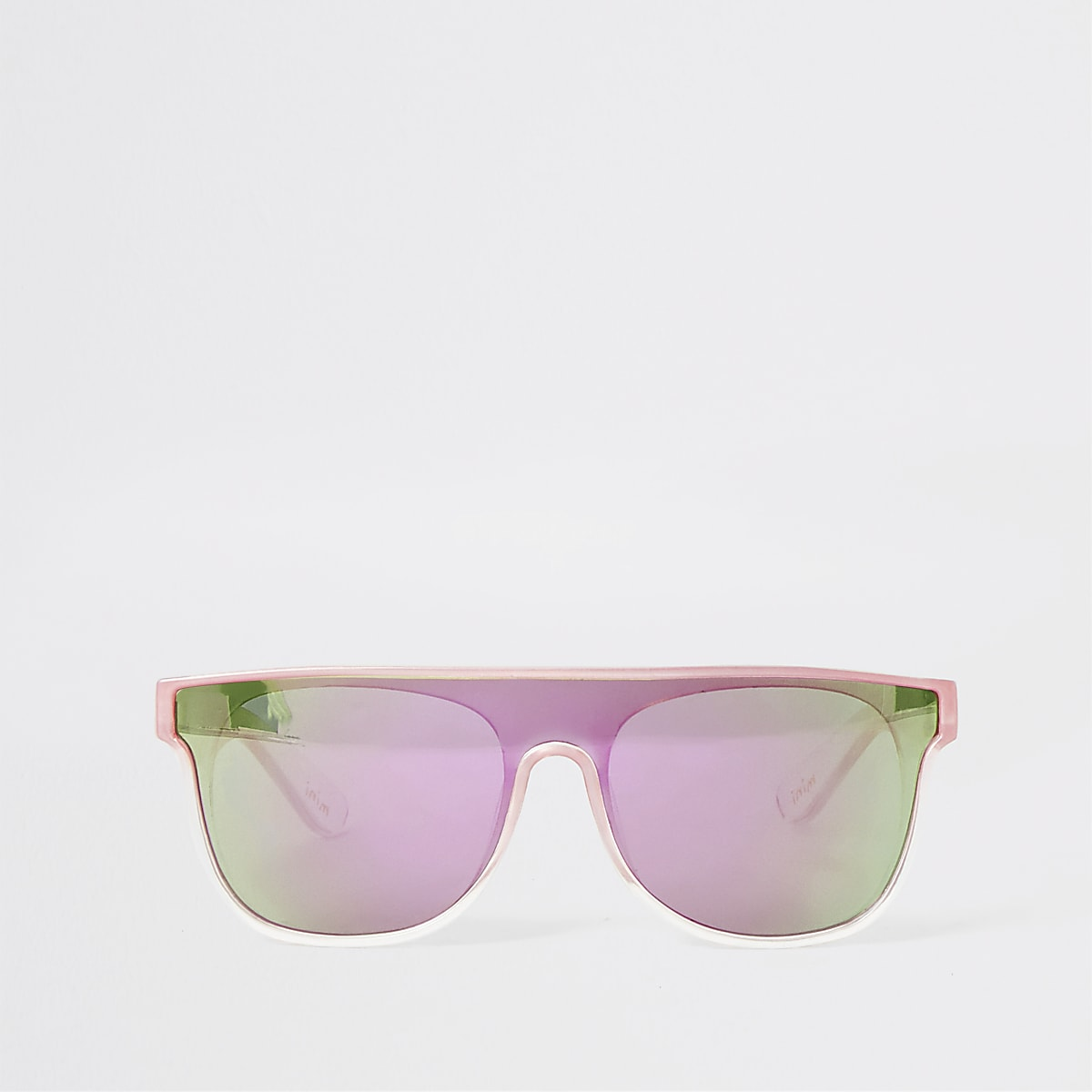 Mini girls pink visor sunglasses