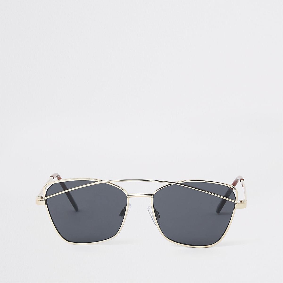 Girls gold tone smoke lens sunglasses