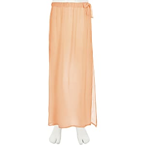 Girls coral beach skirt