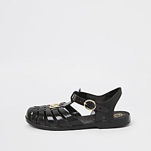 Zwarte jelly sandalen voor meisjes