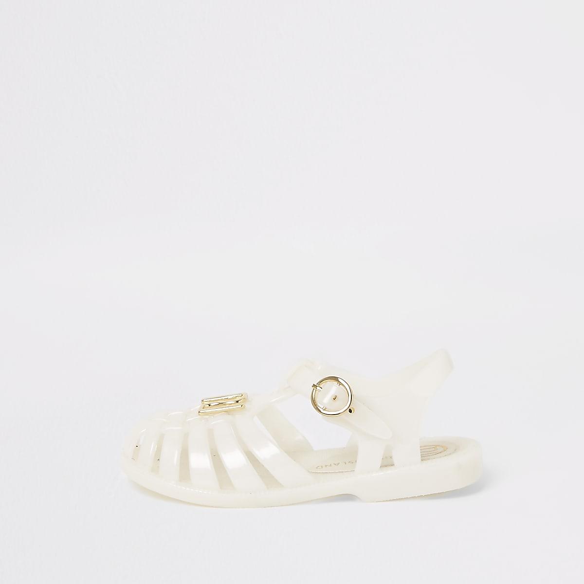 Mini - Witte jelly sandaletten voor meisjes