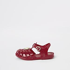 Mini - Rode jelly sandalen voor meisjes