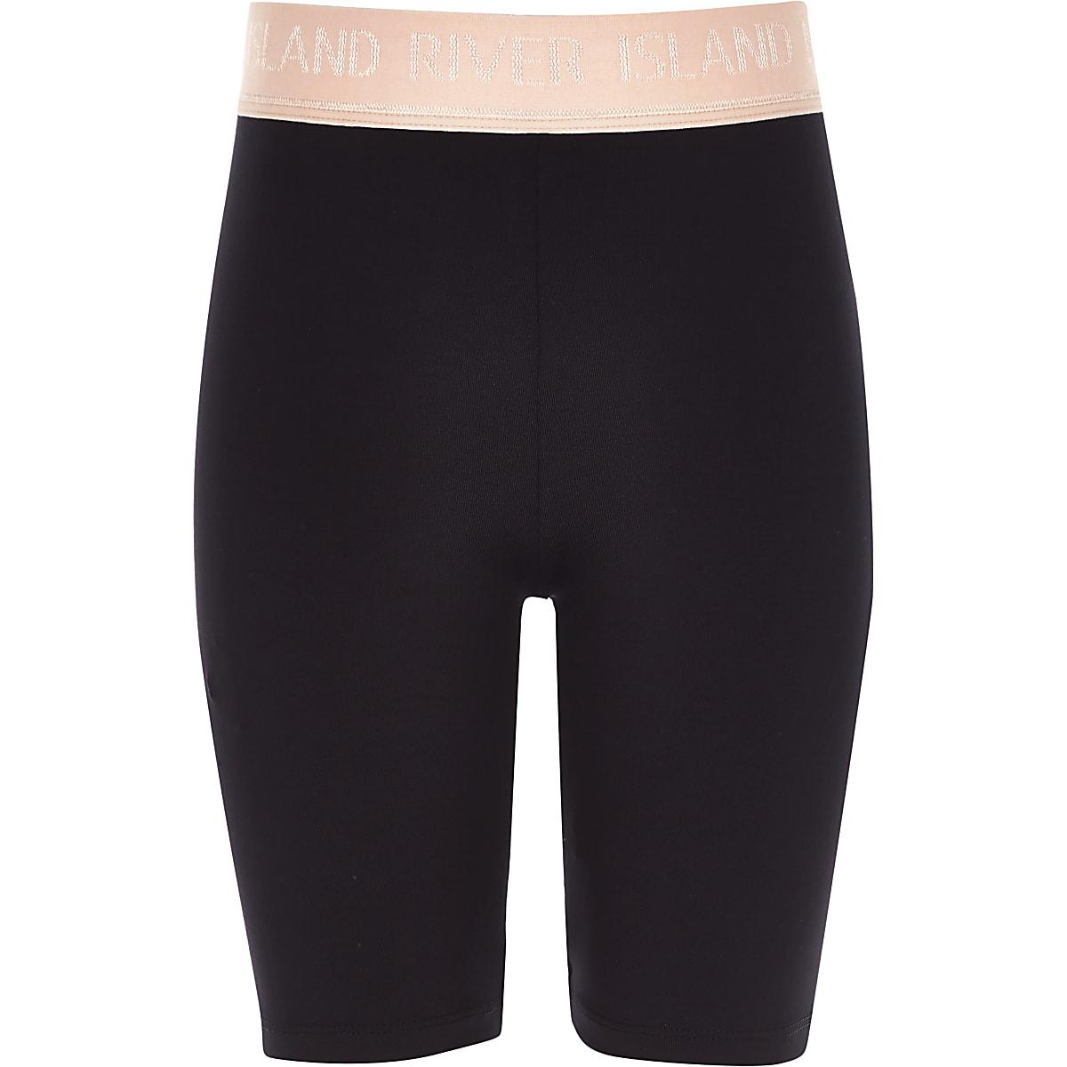 Girls RI Active black cycle shorts