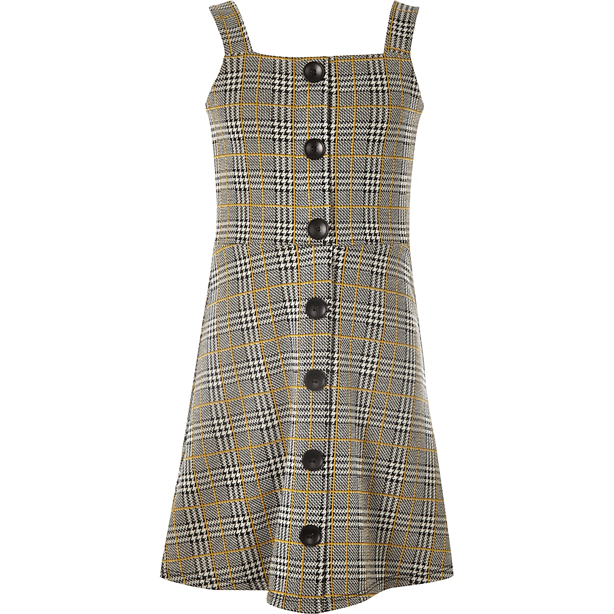 68a3640e53 girls grey check pinafore dress - Day Dresses - Dresses - girls