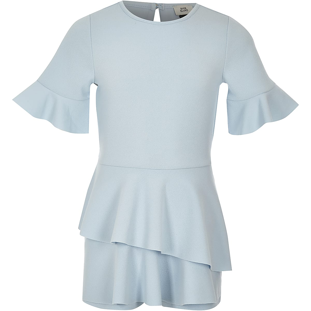 46ac7a0cac Girls light blue short sleeve skort playsuit - Playsuits - Playsuits    Jumpsuits - girls