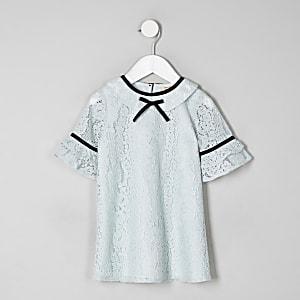 Mini - Groene kanten jurk voor meisjes