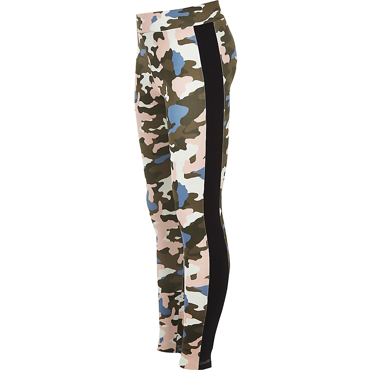 Girls khaki camo leggings