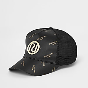 Girls black RI mesh cap