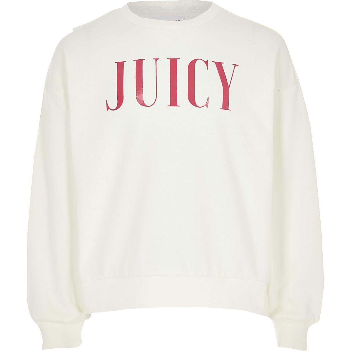 Juicy Couture - Wit sweatshirt voor meisjes