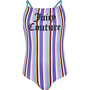 Juicy Couture – Maillot une-pièce rayé bleu