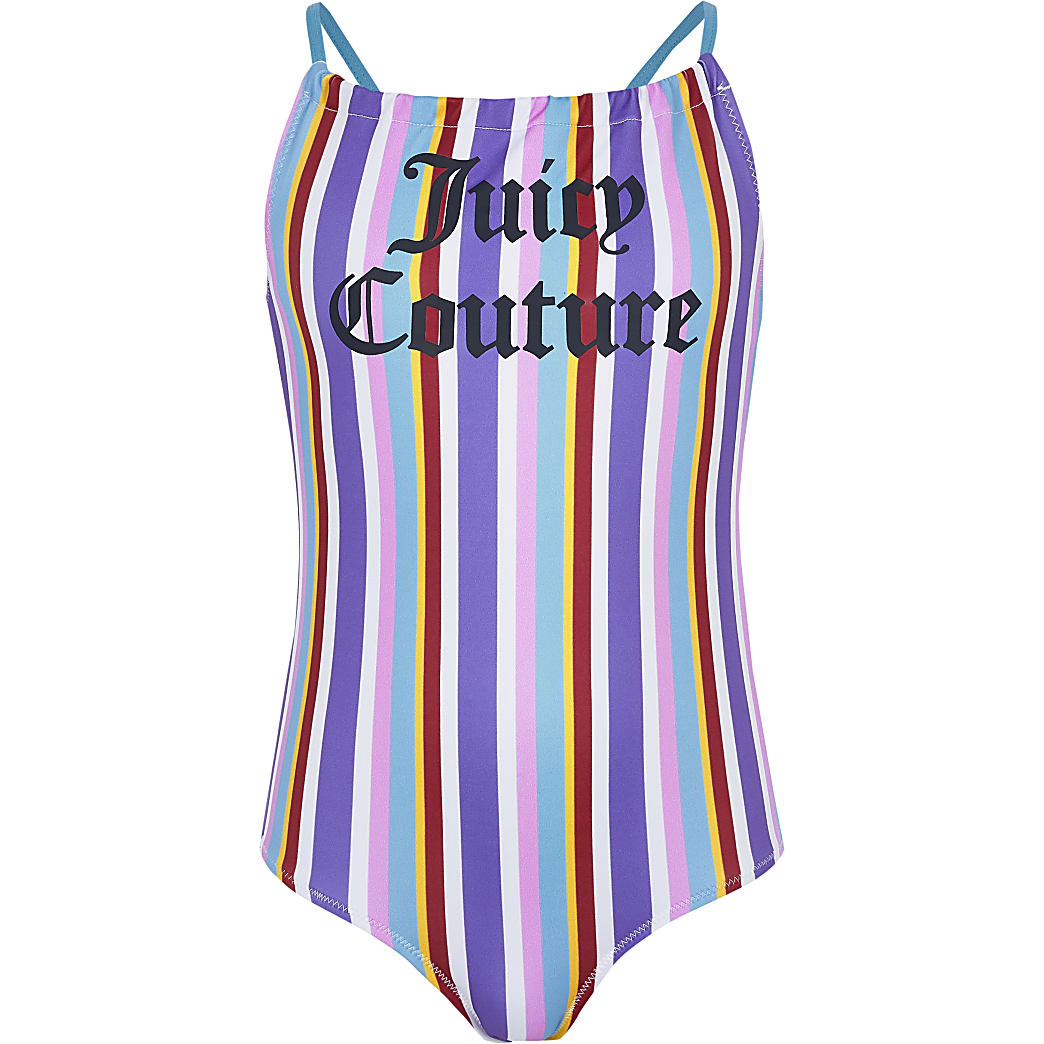 Juicy Couture - Blauw gestreept zwempak