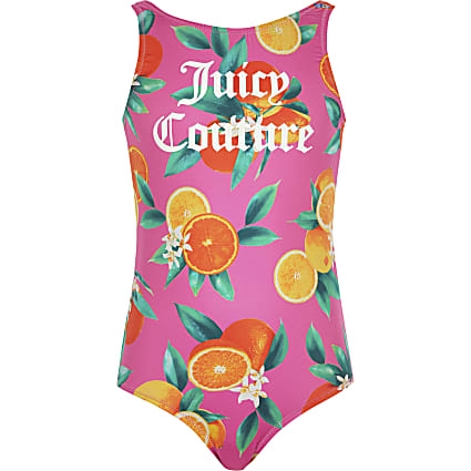 Girls Juicy Couture pink fruit swimsuit