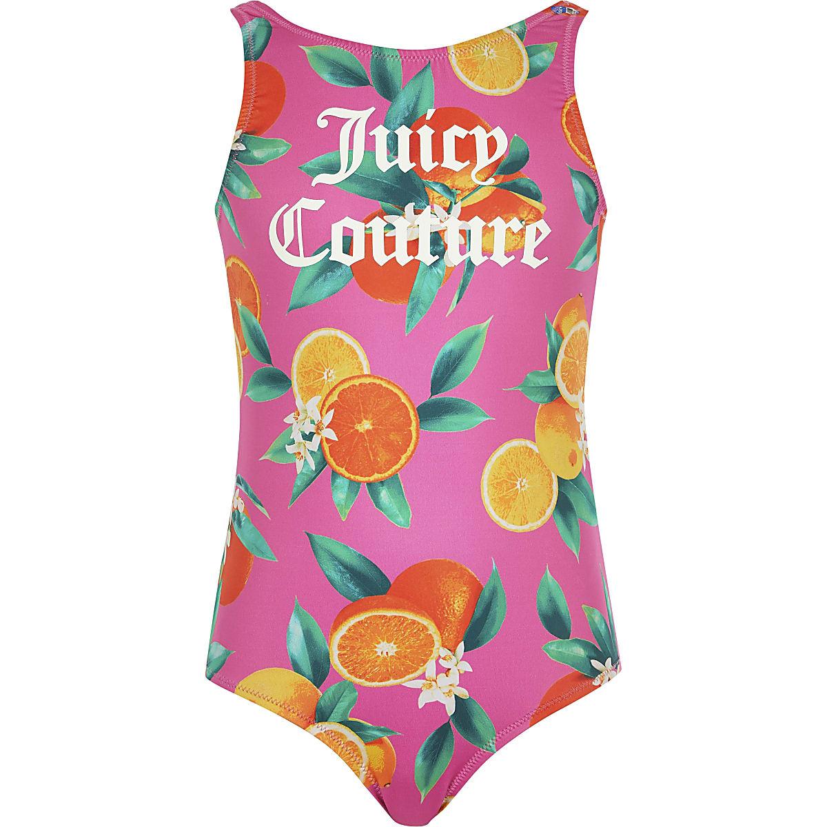 Juicy Couture - Roze zwempak met vruchtenprint voor meisjes