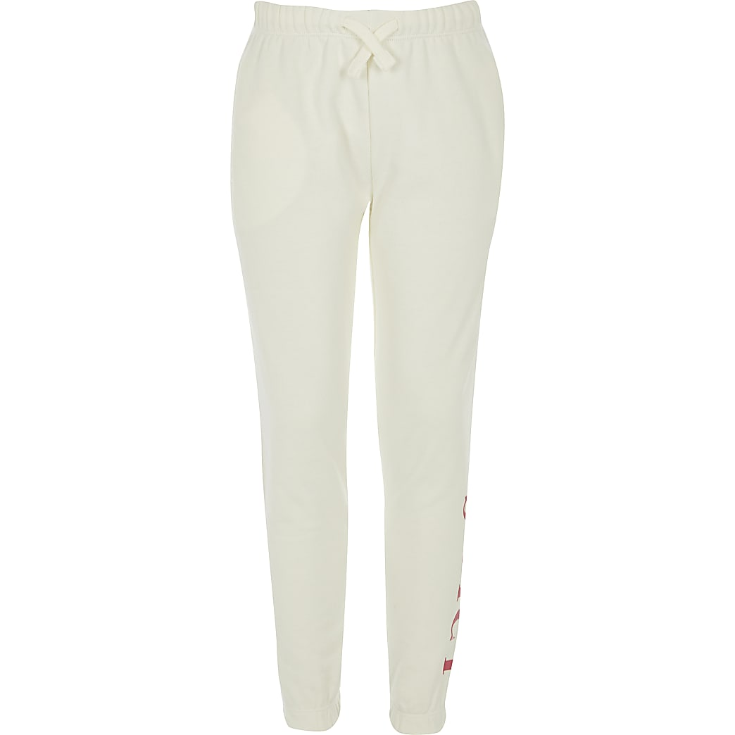Girls Juicy Couture white joggers