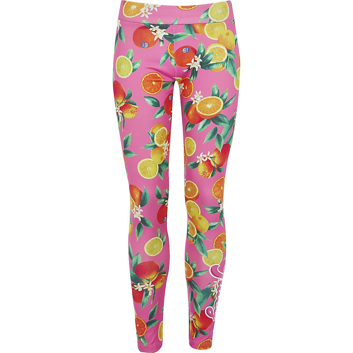 Girls pink Juicy Couture fruit leggings