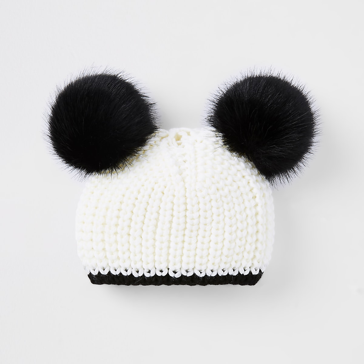 b6622d82 Mini girls cream double pom pom beanie hat - Baby Girls Accessories - Mini  Girls - girls