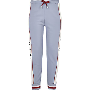 Girls blue RI tape joggers