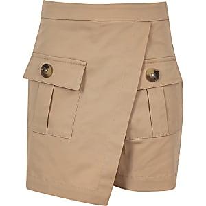 Jupe-culotte fonctionnelle beige pour fille