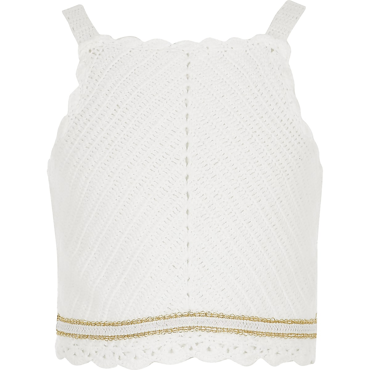 Girls white crochet top