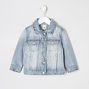 Veste en denim bleu mini fille