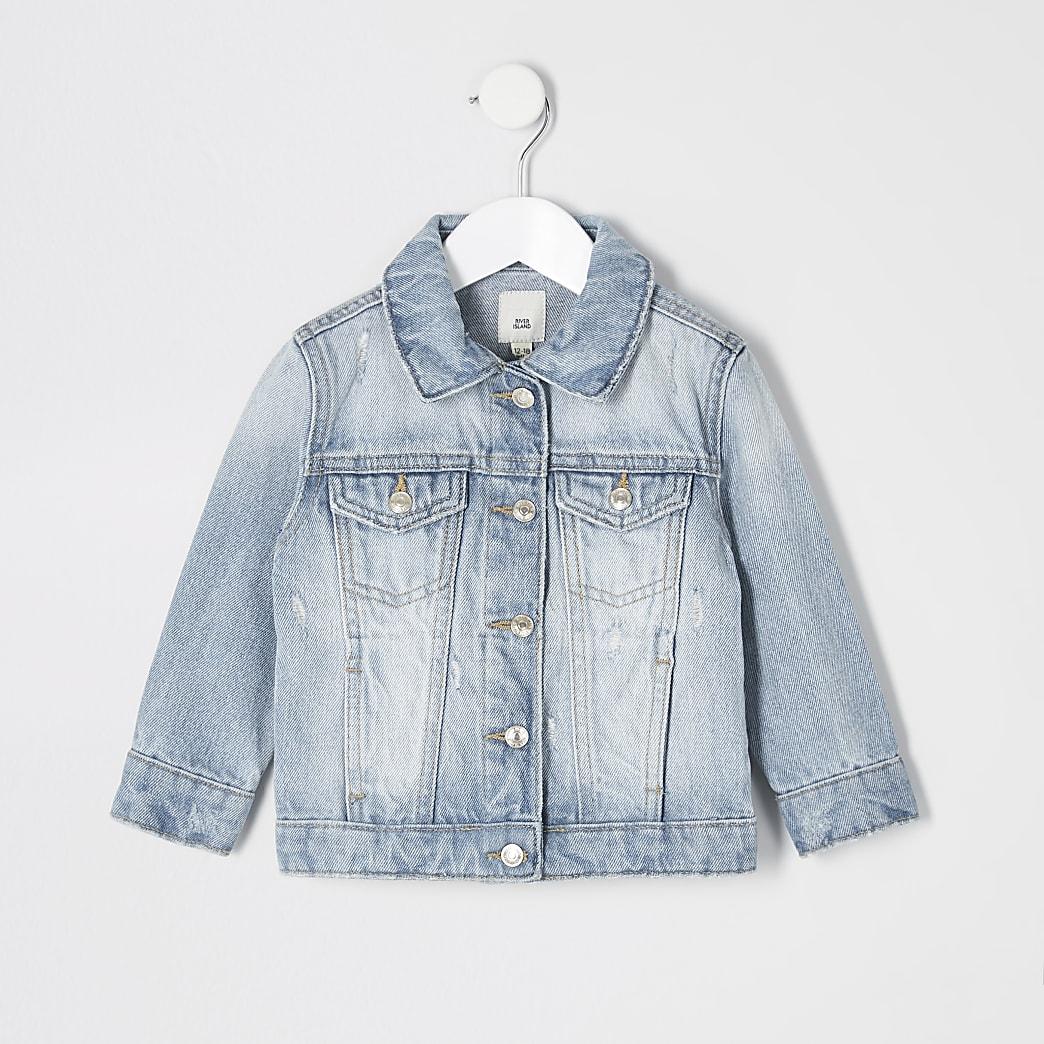 Mini - Blauw denim jack voor meisjes